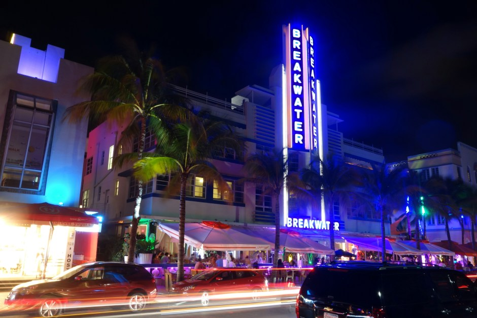 Ocean Drive night view