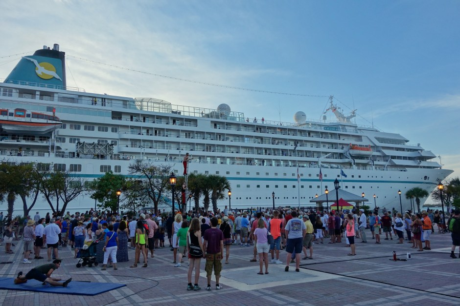 One of the giant cruise ships in Key West