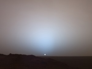 listen 2 this indie playlist while chillin' with a Martian sunset