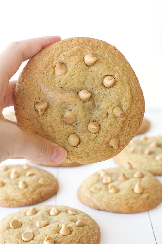 Giant Peanut Butter Stuffed Cookies