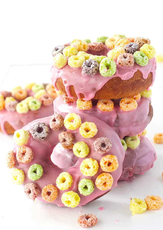 Froot Loop Donuts