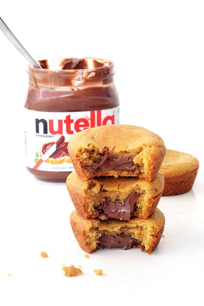 Nutella Stuffed Cookie Cups