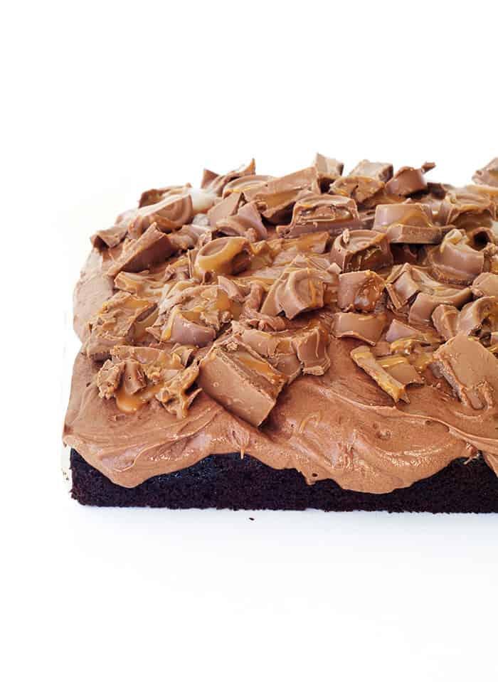 Chocolate Caramel Poke Cake