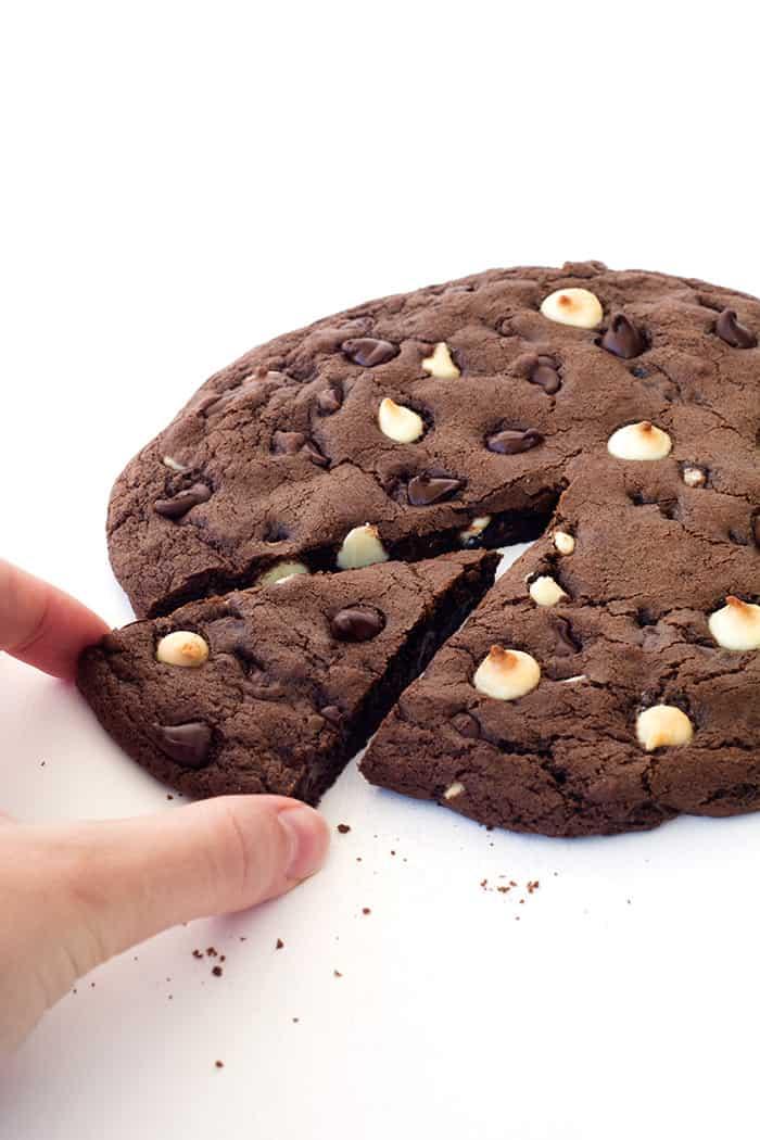 Giant Triple Chocolate Cookie