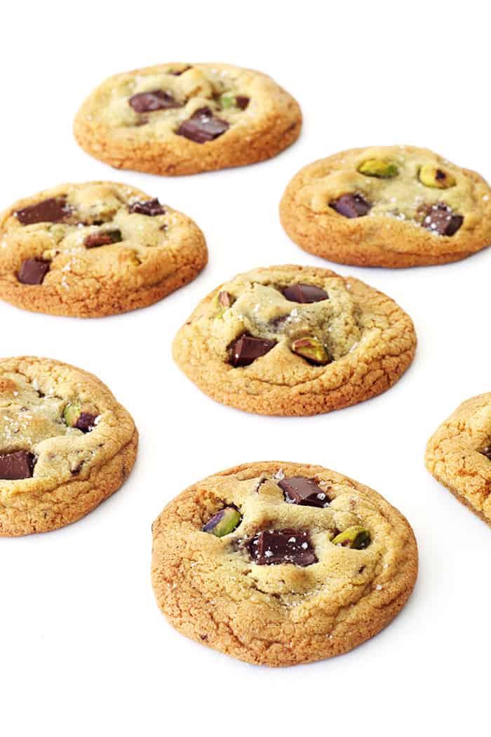 Dark Chocolate Pistachio Cookies