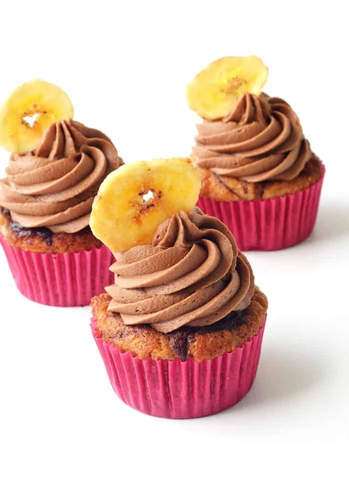 Nutella Banana Cupcakes