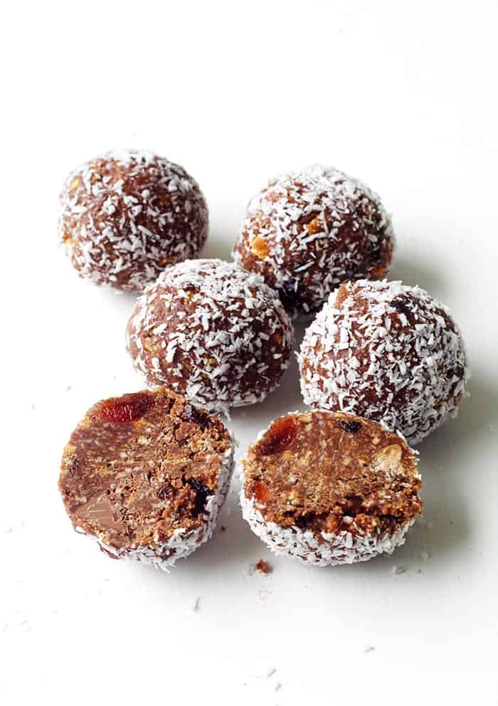 Chocolate Cherry Coconut Truffles