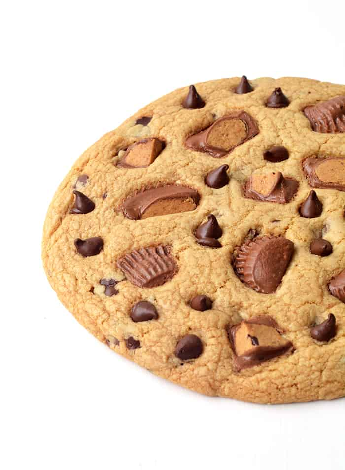 Giant Peanut Butter Chocolate Chip Cookie