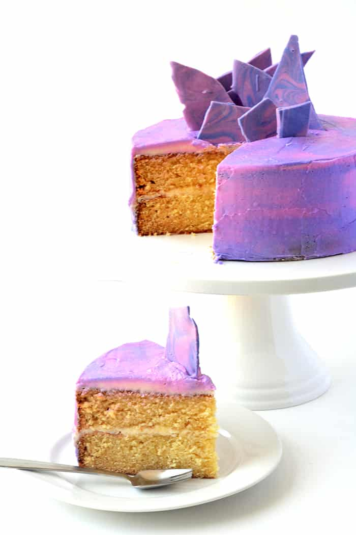 Purple Marble Vanilla Layer Cake