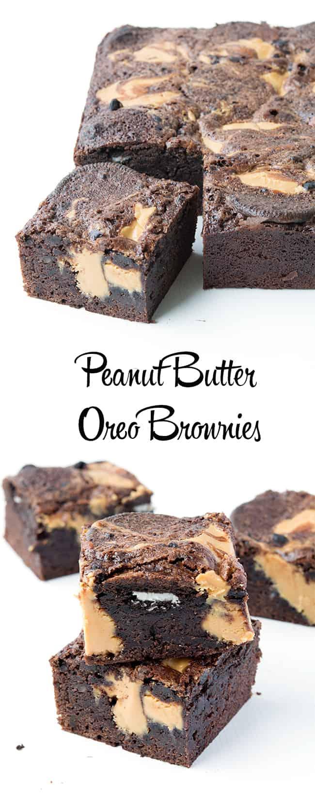 Peanut Butter Oreo Stuffed Brownies   Sweetest Menu