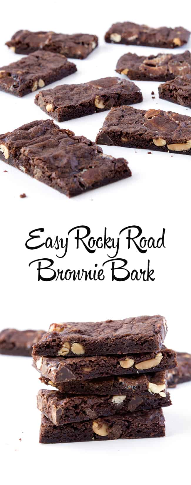 Rocky Road Brownie Bark | sweetest menu