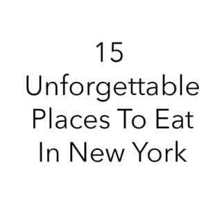 America's Best Eats: New York City