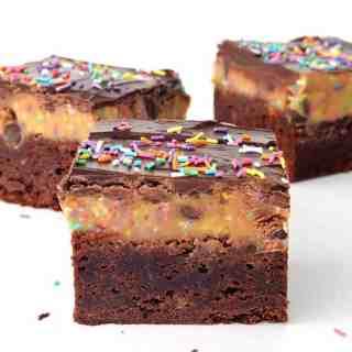 Funfetti Cookie Dough Chocolate Brownies