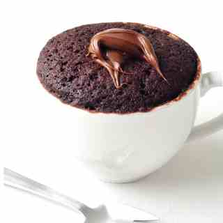 Nutella Chocolate Mug Cake For One