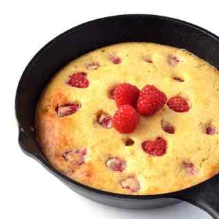 Easy Raspberry Skillet Pancake