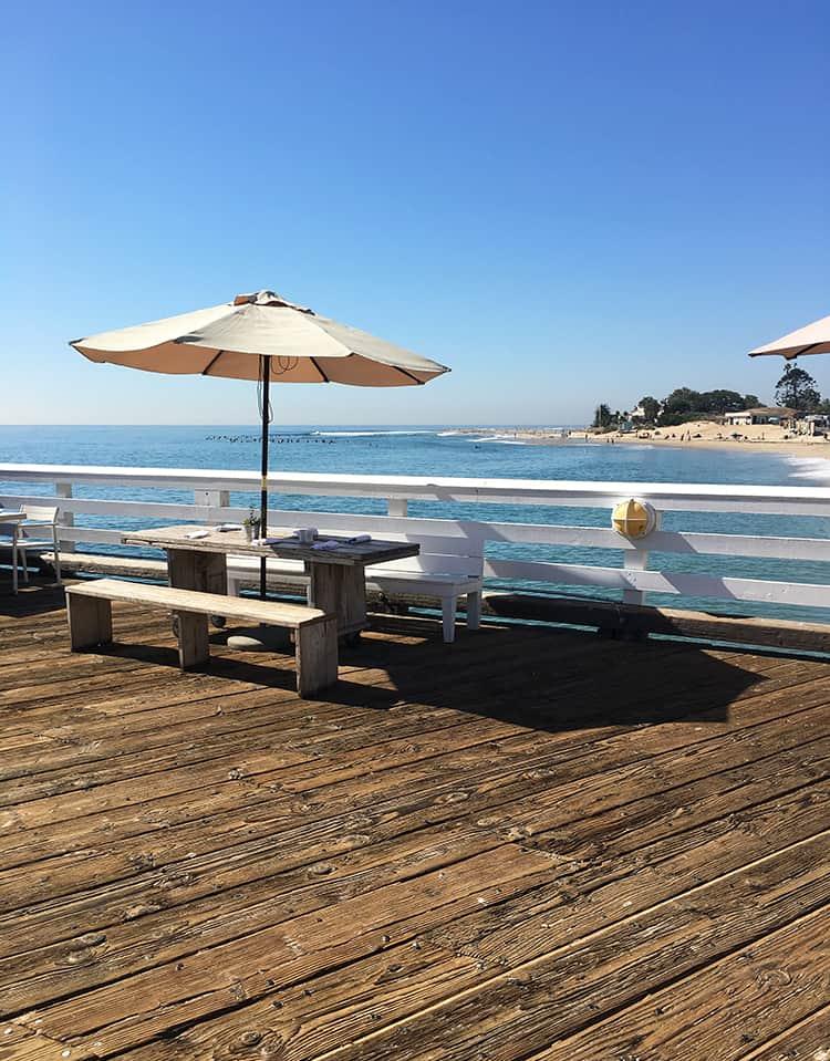 Board walk on the beach in Malibu, Los Angeles