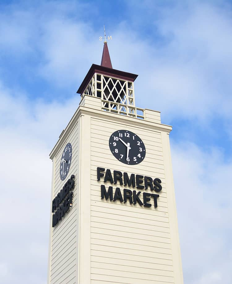 Farmers Market tower at The Grove