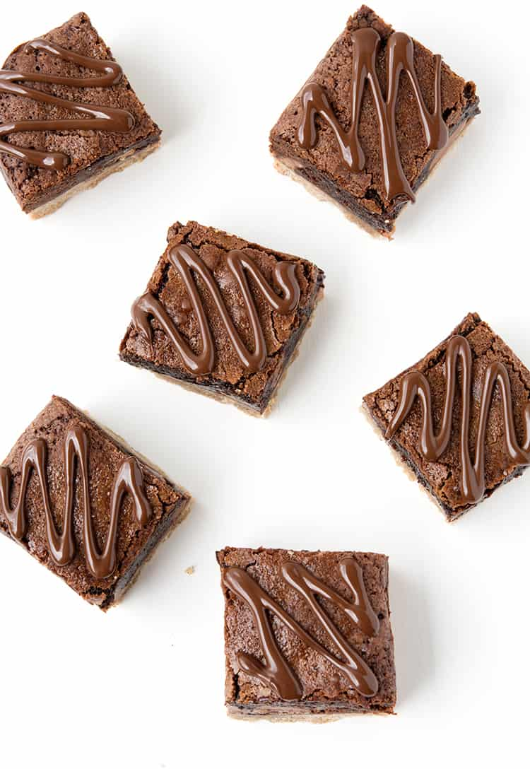 Gingerbread Chocolate Brownies with a chocolate drizzle