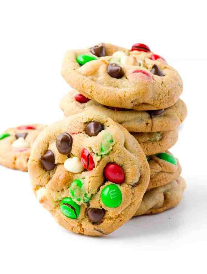 M&M Christmas Cookies | Sweetest Menu