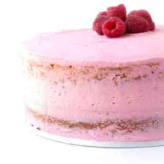 White Chocolate Raspberry Layer Cake (Video)