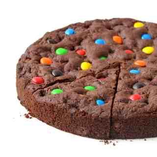 M&M Chocolate Cookie Cake