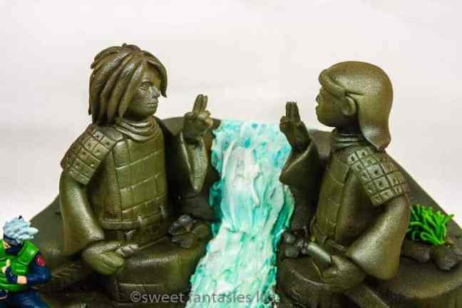 Statues on 3D 21st Birthday Cake, Hashirama Senju vs Madara Uchiha . The Final Valley