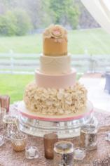 4 Tier wedding cake with petals & flowers. By sweet fantasies, Stoke-on-Trent