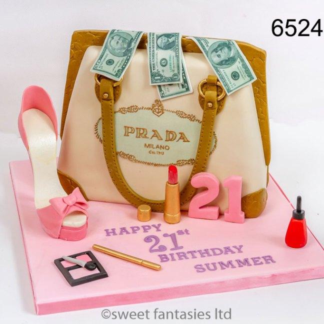 3d designer handbag with shoe & make-up