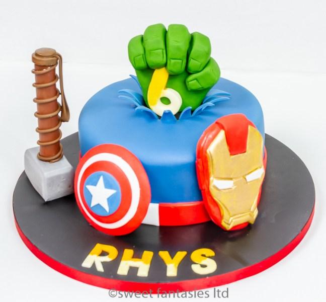 Thors Hammer,Ironman,captain America, hulk fist