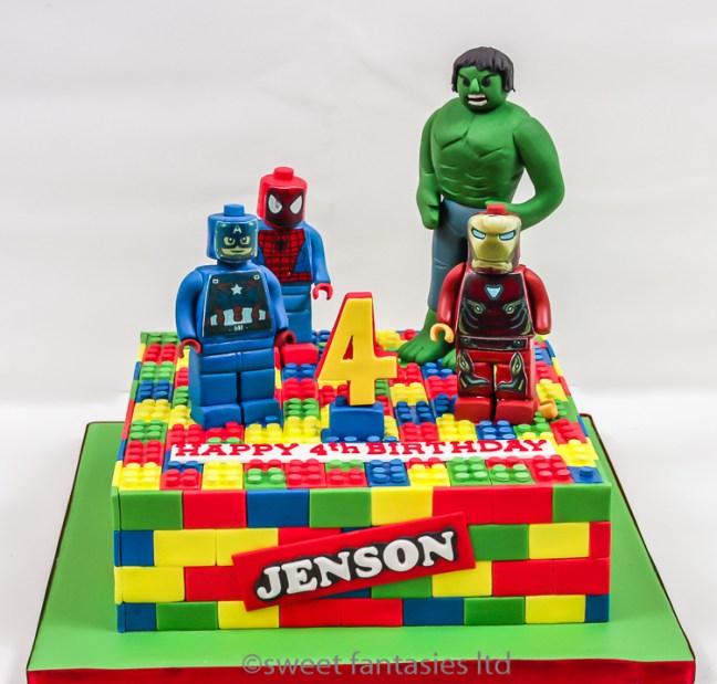Lego superheroes- Hulk,Ironman,spiderman,Captain America