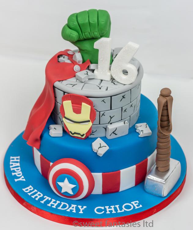 Astonishing Superhero Cakes Sweet Fantasies Cakes Birthday Wedding Cakes Funny Birthday Cards Online Elaedamsfinfo