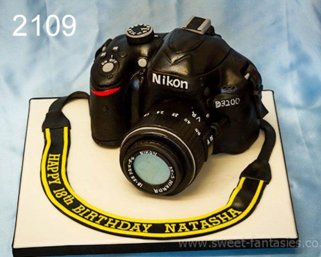 Girls 18th 3D camera birthday cake