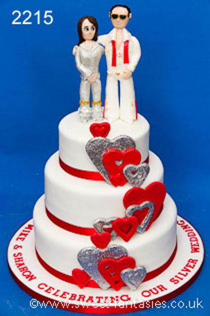 3 Tier Wedding Anniversary cake