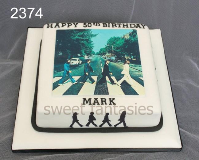 beatles birthday cake - music - sweet fantasies