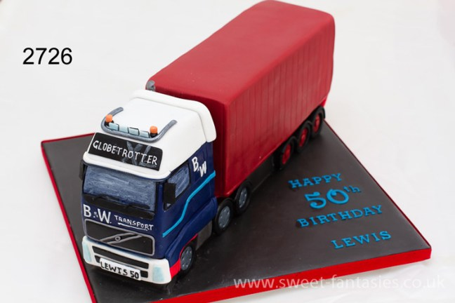3D Lorry Birthday Cake