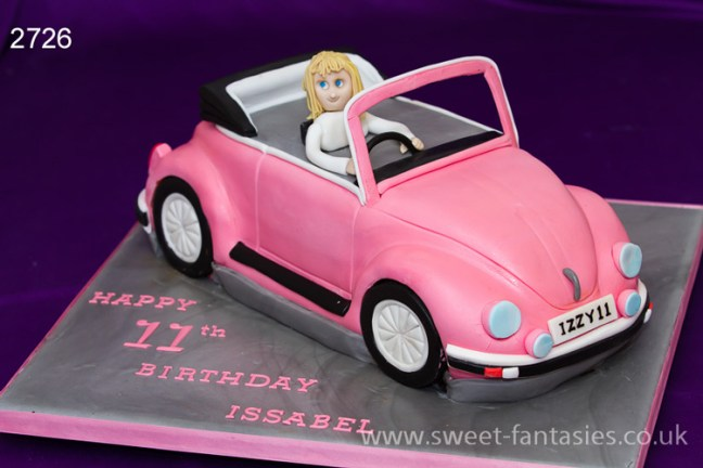 3D VW Beetle Car Birthday Cake
