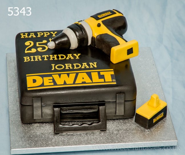 3D electric drill & case. birthday cake