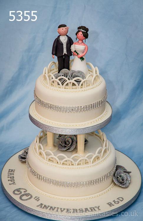 Anniversary cake designs- 2 tier