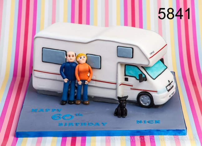 3D Mobil Home (camper van) Birthday Cake