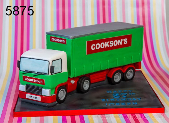 3D Old Lorry Birthday Cake