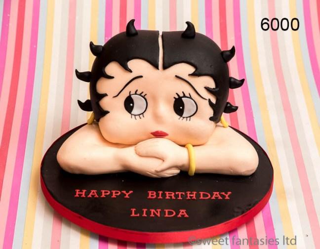3D betty boo, ladies birthday cake