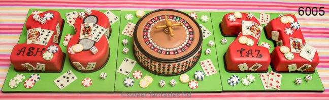 Boys 18th & 21st casino themed Birthday Cake