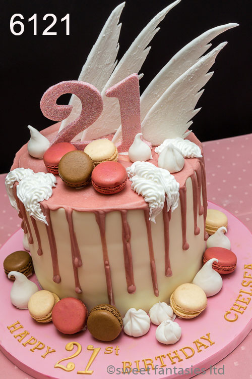 Peachy Girls 18Th And 21St Cake Sweet Fantasies Cakes Stoke On Trent Personalised Birthday Cards Veneteletsinfo