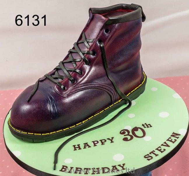mens birthday cakes, 3D boot