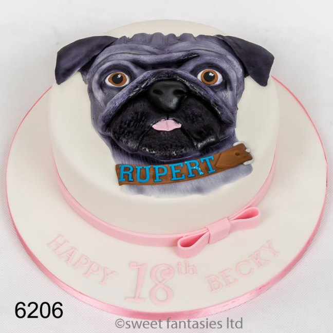 2D Dog - 3D Boot - girls 18th birthday cake
