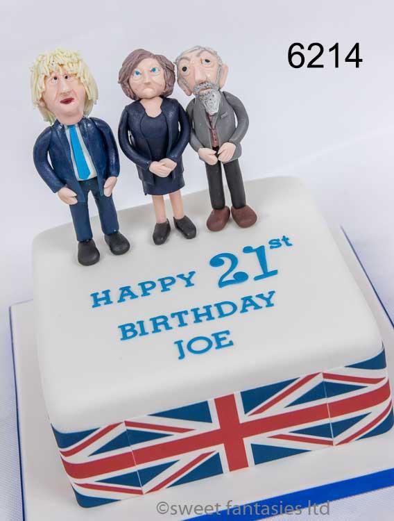 21st birthday cake with boris, may & corbin
