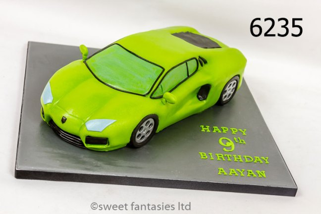 3D Sports Car Birthday Cake