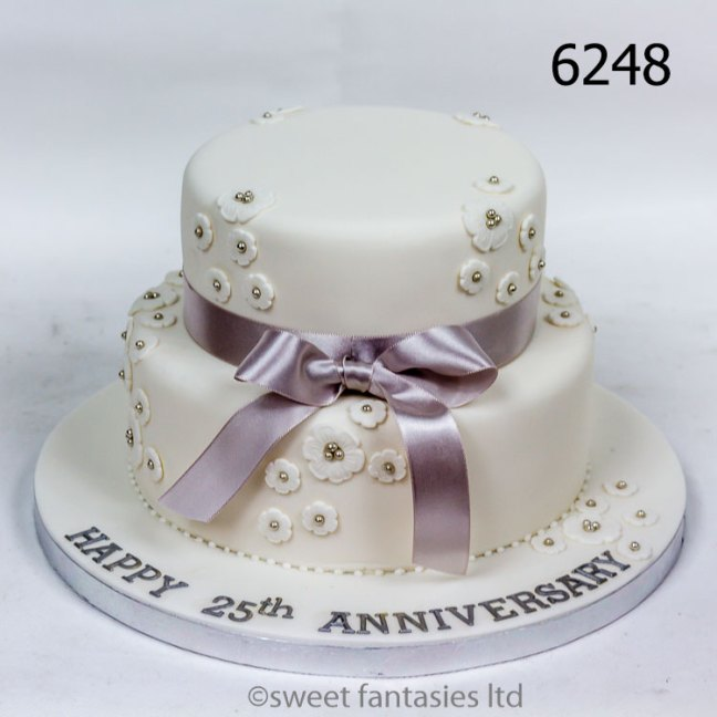 2 Tier 25th Anniversary Cake