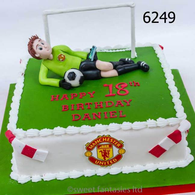 18th birthday cake for a goalkeeper