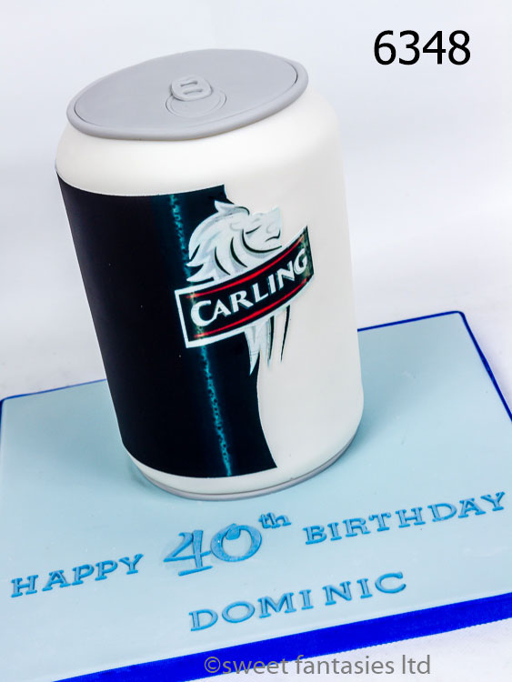 40th cake,3D carling can.